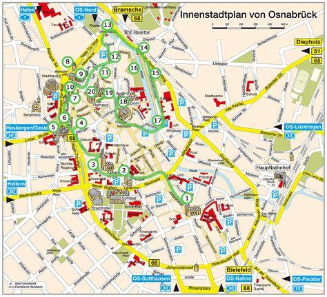 Stadtplan Der Innenstadt Von Osnabruck Karten Ausdrucken