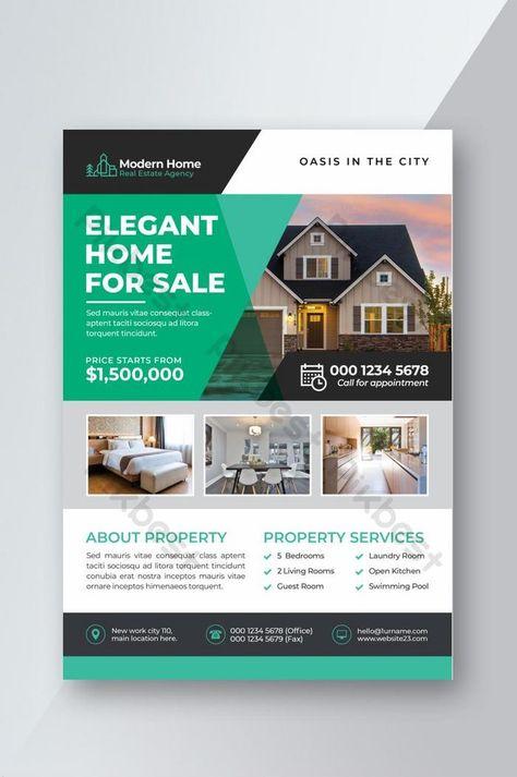 Unique Modern Real Estate Flyer Design Template | PSD Free Download - Pikbest