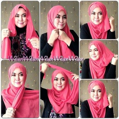 Tutorial Hijab Ala Orang Arab Dengan Gambar Kursus Hijab