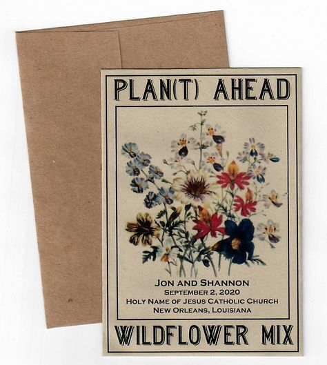 Recycled Wildflower Mix Save the Date | seedpackets2u2018
