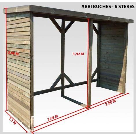 Abri Range Buches Autoclave 6 Steres Rb280110 Range Buche Range Bois Exterieur Stere De Bois