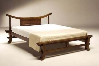 Chinese Bed Frame Elmwood Ming Style Queen Size Asian Panel Beds Paturi