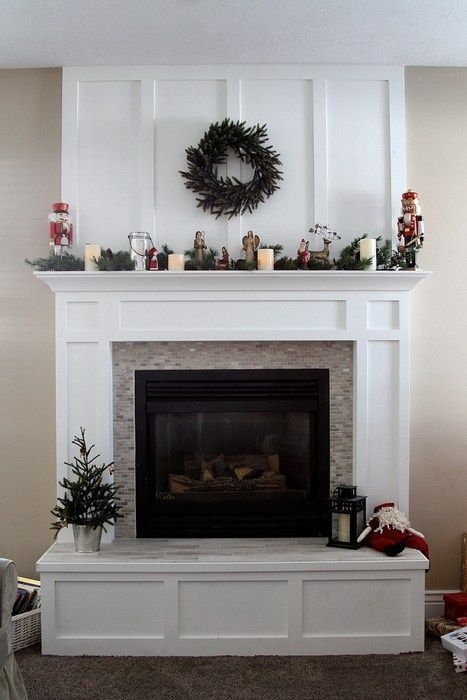 Fireplace Mantle Redo In Time For Christmas Home Fireplace