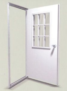 Door Exterior Lite Outswing Window Right Or Left Hinge Hang White High Density Polyethyl Mobile Home Doors Mobile Home Decorating Remodeling Mobile Homes