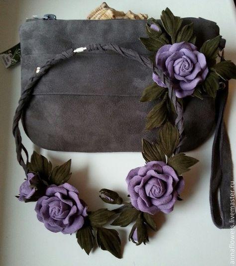 33908ddf4680 Женские сумки ручной работы. Ярмарка Мастеров - ручная работа. Купить Клатч,брошь,  колье, браслет из замши