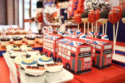 Paris London Theme Birthday Party Ideas