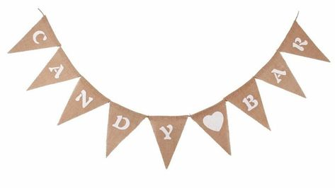 Candy Bar Jute Pennant Garland Wedding