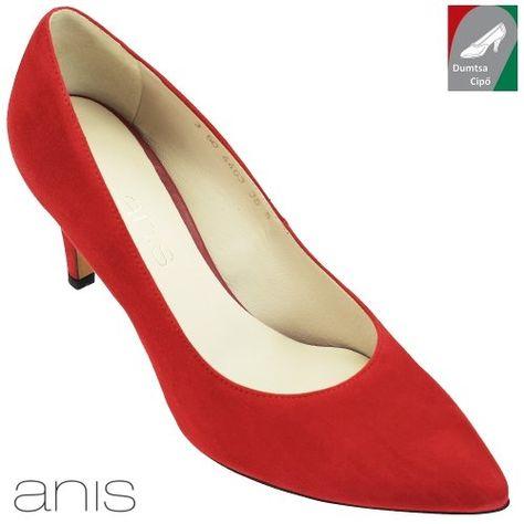 Anis női bőr cipő 4463 piros  5ba61aaec9