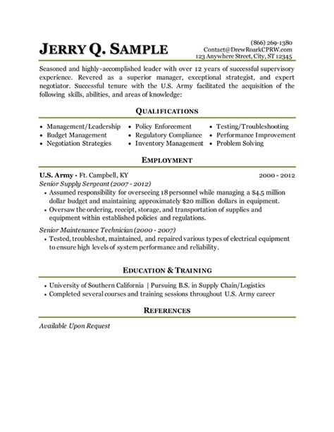 Human Resources (Military Transition) Resume Sample Freedom - military trainer sample resume