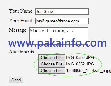Php Multiple Email Attachments With Sending Email Ajax Multiple File Upload Learn Web Development Web Development Tutorial About Me Blog