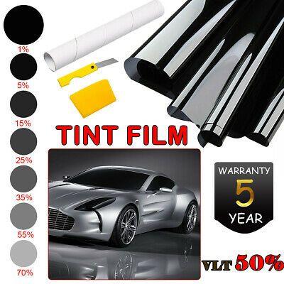 Sponsored Link 50 Vlt Light Black Car Home Glass Window Tint