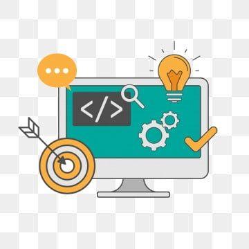 Classic Web Development Programming Software Flat Website Line Technology Computer Digital Graphic Concept App Web Development Logo Web Design Logo Coding Logo