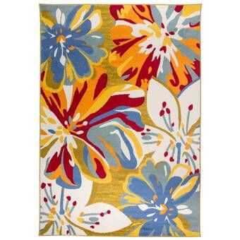 Wallingford Hand Hooked Red Green Blue Area Rug Floral Rug Floral Area Rugs Rug Gallery
