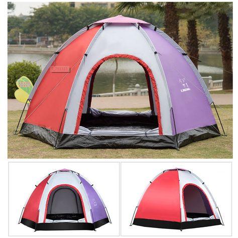 Outdoor 5 6 People Pop Up Camping Tent Waterproof UV Proof