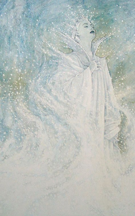The Snow Queen by Hans Christian Andersen, illustrated by P. An Irish illustrator famous for his super detailed children's book illustrations. Snow Queen, Ice Queen Narnia, Reine Art, Queen Art, Fairytale Art, Hans Christian, Illustrations, Illustration Art, Oeuvre D'art