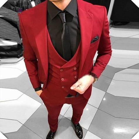 3 Piece Suit Slim Fit, Slim Fit Suits, Slim Fit Tuxedo, Nice Suits, Red Tuxedo, Tuxedo For Men, Female Tuxedo, Girl Tuxedo, Groom Tuxedo