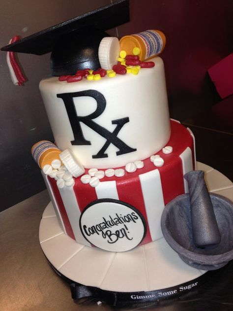 pharmacy cake...except navy and gray...and a little different :)