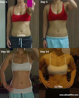 my 2 week weight loss body transformation