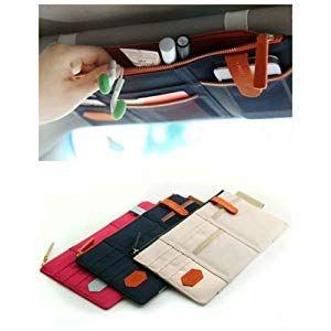 Auto Car Sun Visor Point Pocket Organizer Pouch Bag Card Storage Holder Bags W