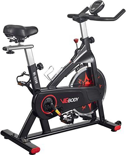 New Vigbody Exercise Bike Indoor Cycling Bike Adjustable Stationary Bicycle Home Gym Workout Cardio Bikes Upright Bike Online Toplikeclothes In 2020 Indoor Bike Workouts Biking Workout Indoor Cycling Bike