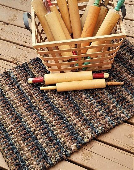 Rag Rug Weaving Supplies Crocheted