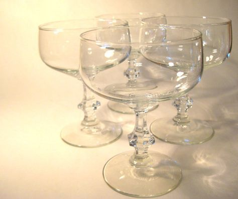 Desperately want these Vintage Champagne Coupes @Etsy $36