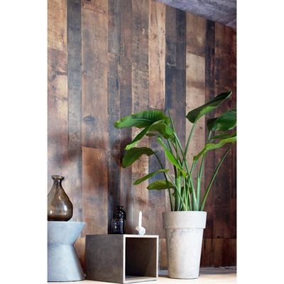 1 4 In Magog 4 Ft X 8 Ft Digital Brown Barn Wood Panel Wood Paneling Barn Wood Wall Panels