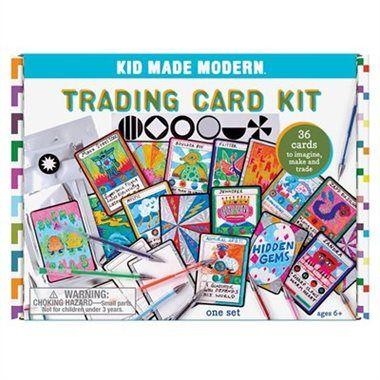 Kid Made Modern Trading Card Diy Craft Kit Diy Craft Kits Diy Cards Unique Cards