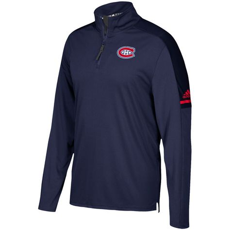 Montreal Canadiens adidas Authentic Pro Quarter Zip Jacket