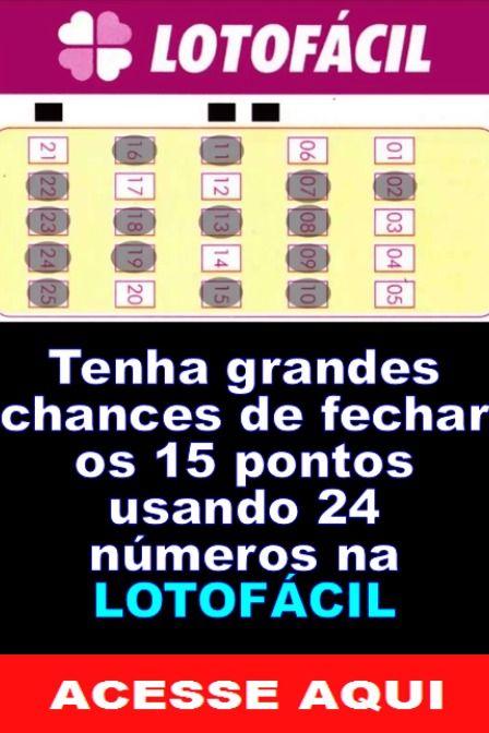Usar 24 Numeros Para Acertar Na Lotofacil Sorte No Jogo Ganhar Na Loteria Motivacao Para Vida