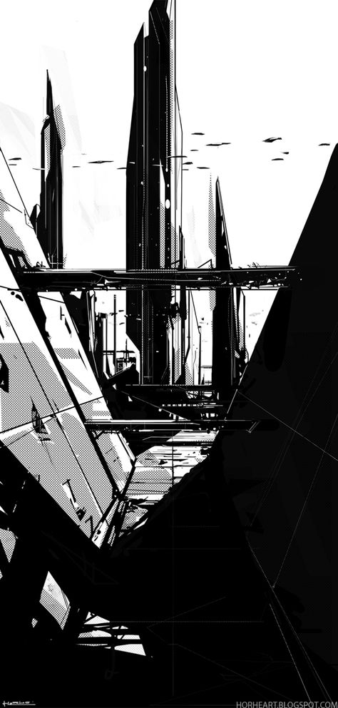 BLACK - A Sci-fi experiment by George Munteanu, via Behance