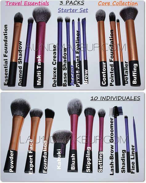 The only good RT brushes: Domed shadow for concealer. Eyeshadow -base shadow, shading brush. For brows -accent brush Face -Contour brush, powder brush it's a shame they can't all be bought individually