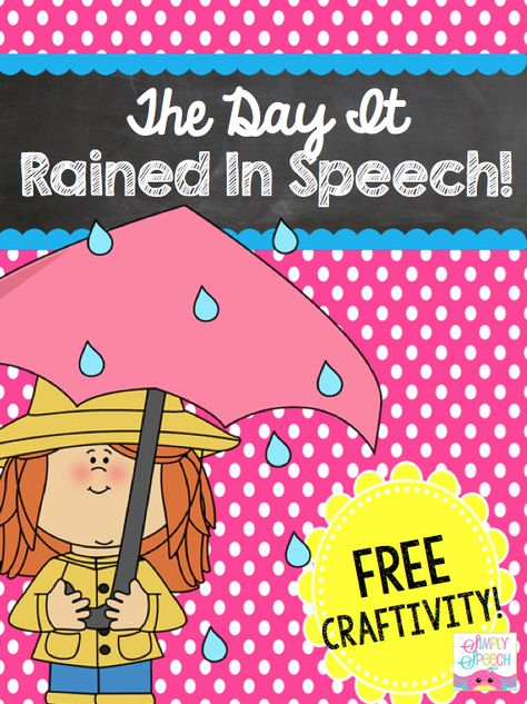 Speechie Freebies: The Day It Rained In Speech! Valentine's Day Themed Activities! Pinned by SOS Inc. Resources. Follow all our boards at pinterest.com/sostherapy/ for therapy resources.