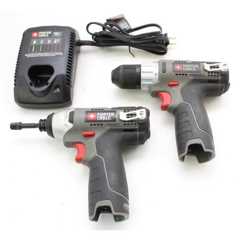 For Sale Porter Cable 12v Max Li Ion Cordless 3 8 Drill Pcl120dd Pcl120id Impact Driver Porter Cable Impact Driver Drill