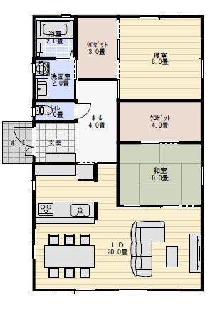 一人暮らしと二人暮らしの平屋の間取り図 3パターンを比較 新築