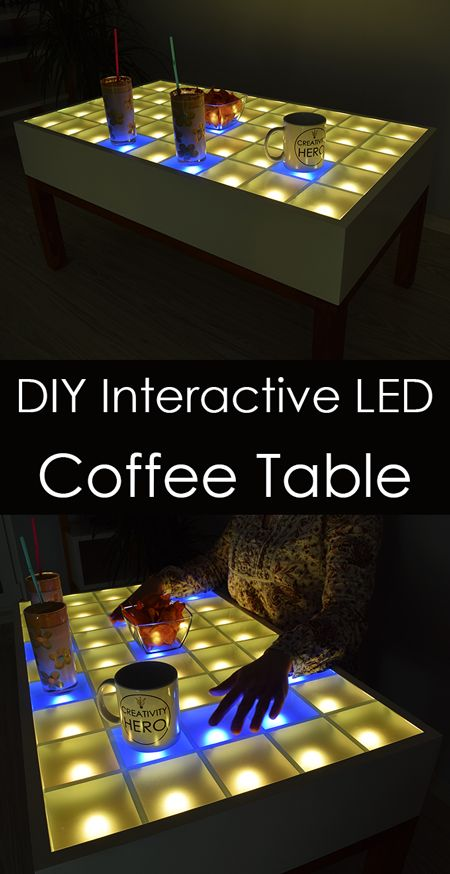 This Amazing Interactive Led Coffee Table Is Controlled Via A