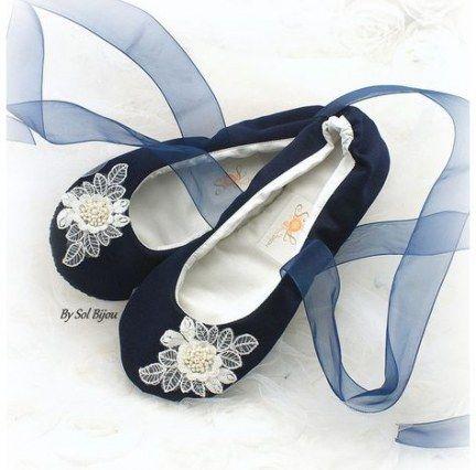New Wedding Shoes Flats Ivory Navy Blue 67+ Ideas | Stylish