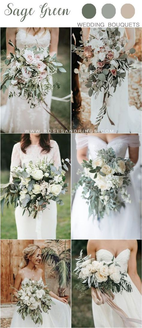 silver sage greenery wedding bouquets #wedding #weddings #weddingcolors #greenweddings #hmp #invitedbylamaworks #sagegreen #weddingstyle #weddingprep #blushwedding #neutralwedding