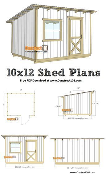 10x12 Lean To Shed Plans Pdf Download En 2020 Abri Terrasse Terrasse Bois Et Abri De Jardin