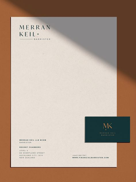 Graphic Design Merran Keil Barrister - Full branding & Squarespace website design by Leah Sylvia Cre Luxury Graphic Design, Graphic Design Brochure, Design Logo, Identity Design, Brand Identity, Menu Design, Label Design, Food Design, Design Design
