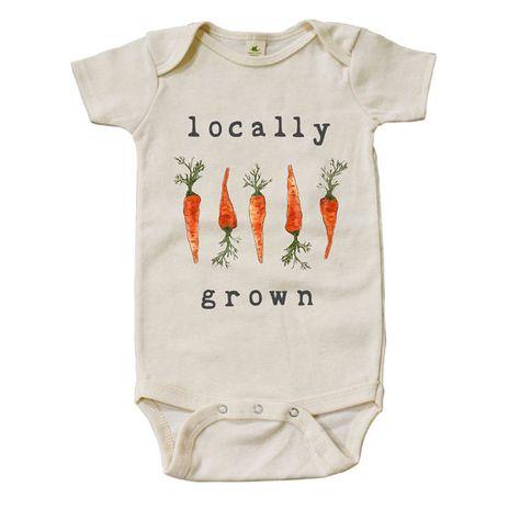 Onesie - organic locally grown carrots