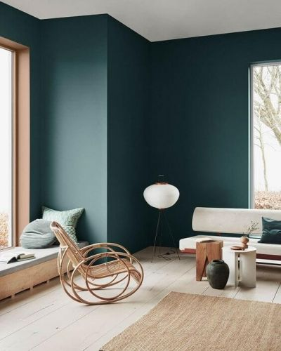 Dark Green Color Trend Green Interior Design Green Interiors Green Wall Color