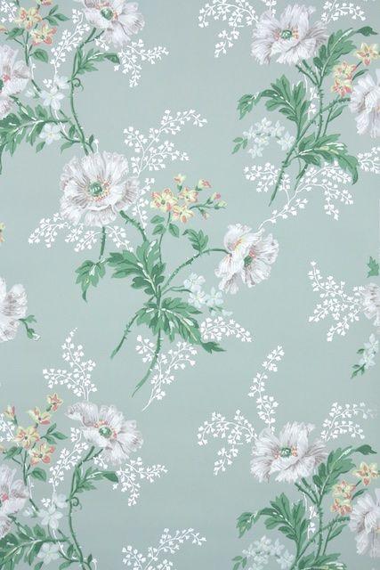1950s Floral Vintage Wallpaper Vintage Floral Wallpapers Floral