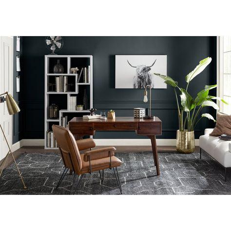 I need this splendid feminine home office Modern Office Decor, Office Interior Design, Office Interiors, Home Interior, Man Office Decor, Man Cave Office, Professional Office Decor, Stylish Office, Office Designs