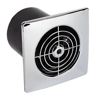 Manrose Lp100st 15w Bathroom Extractor Fan With Timer Chrome 240v Extractor Fans Bathroom Extractor