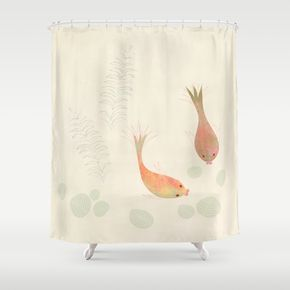 Gold Fish Shower Curtain Curtains Shower Goldfish