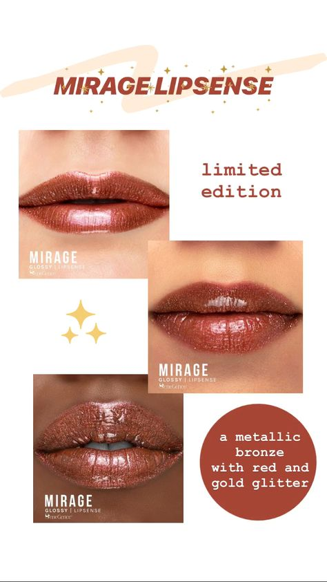 Mirage LipSense Lip Color (limited edition) just got added to the Oasis Collection!