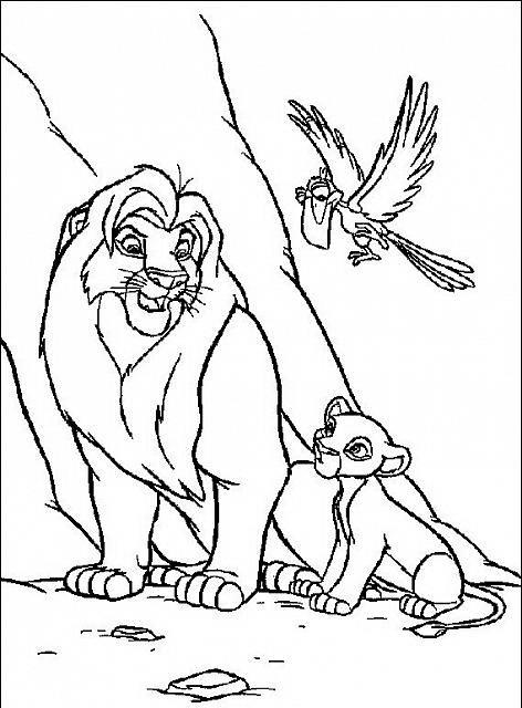 Kiara Simba E Zazu Disegni Da Colorare Gratis Il Re Leone Disegni