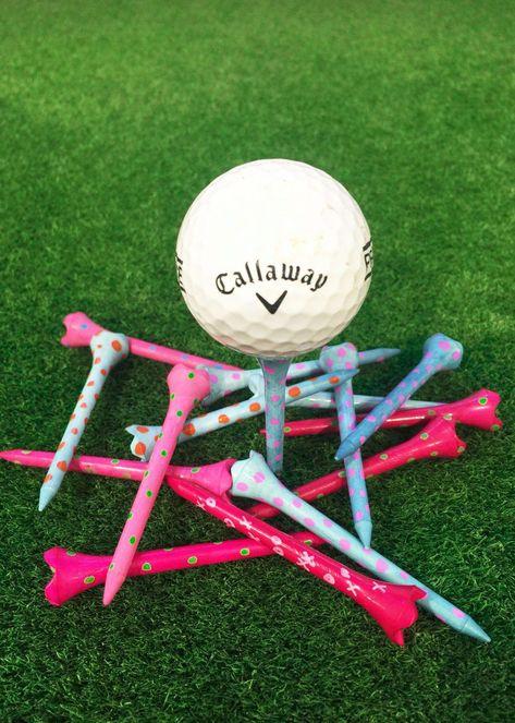 Ladies golf Tees-Whimsical Custom Golf Tees- Custom made golf tees-Golf gifts for women