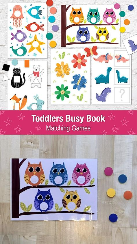 Toddler Busy Book Printable Pdf, Quiet book for Kids, Learning binder, Preschool Activity Book